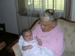 Teresa Rose Brinsky Arunski and her youngest great grand child Antonio Baiges in November 2007